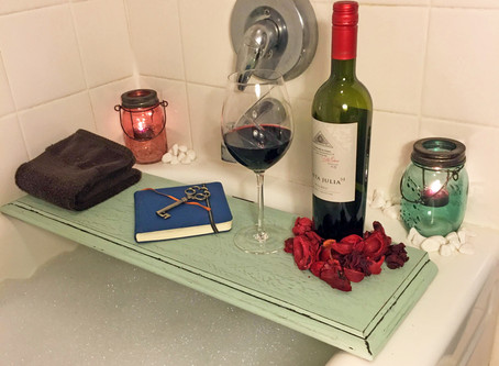 DIY Bath Shelf
