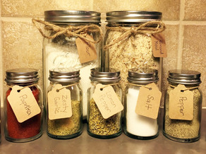 DIY Mason Spice Jars