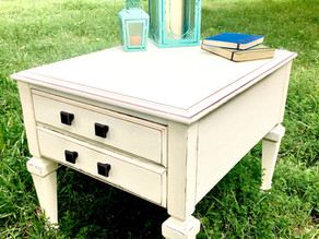 DIY Reclaimed Wooden End Table