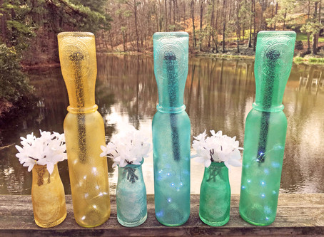 """Stained Glass Featuring """"Light My Bottle"""""""