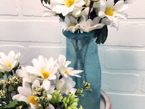 DIY Stained Milk Bottle Vases