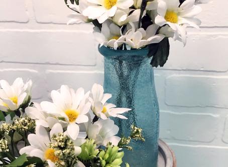 DIY Stained Milk Bottle Vases