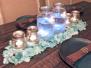Floating Mason Jar Centerpieces