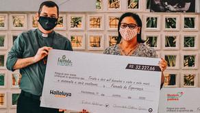 Halleluya Solidário ultrapassa meta e doa cerca de 130 mil reais para projetos sociais