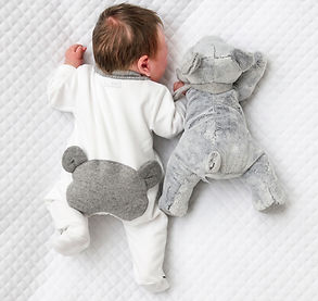 my first freiends teddy bears doudou mobile first bay rompersuits teddy on the back