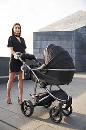 black edition pram luxury baby car first Atlanta