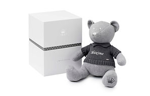 9905540 knitted teddy bear personalised name baby