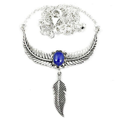 925 Sterling Silver Natural Blue Lapis Necklace
