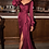 Thumbnail: Stunning Satin Long Sleeve Dress