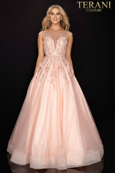 Terani Couture EmbellishedCrepe Gown