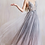 Thumbnail: Andrea & Leo Dreamer 3D Floral Beaded V Neck Ombre Gown