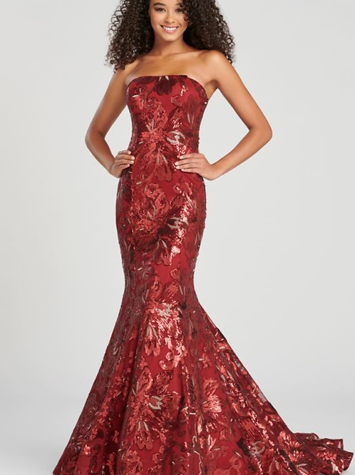 Colette Strapless Adored W/ Sparkling Sequin Long Fitted Dress