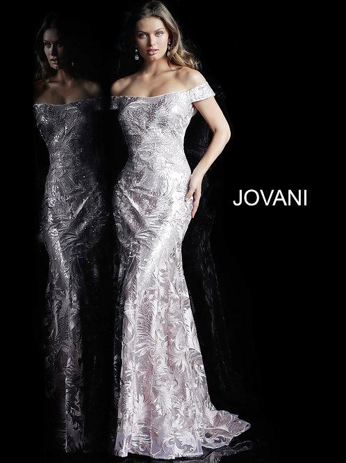 Blush Cap Sleeve Evening Gown 60991