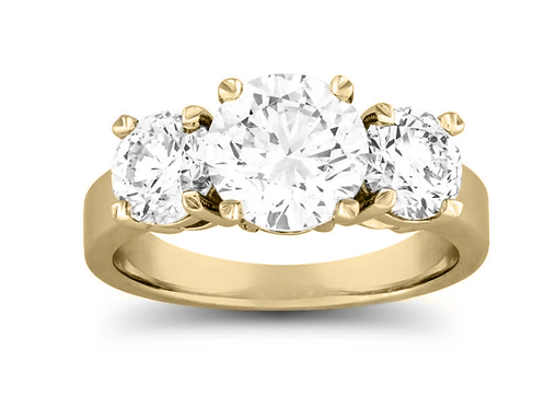 3 1/10 Carat Diamond Three-Stone Ring in 14k Gold