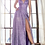 Thumbnail: A-line dress with metallic glitter finish and pleated bodice