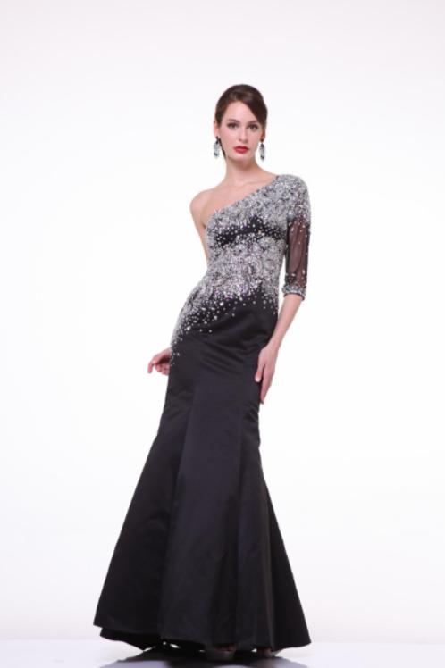 Cinderella Divine Satin Embellished Bodice Gown