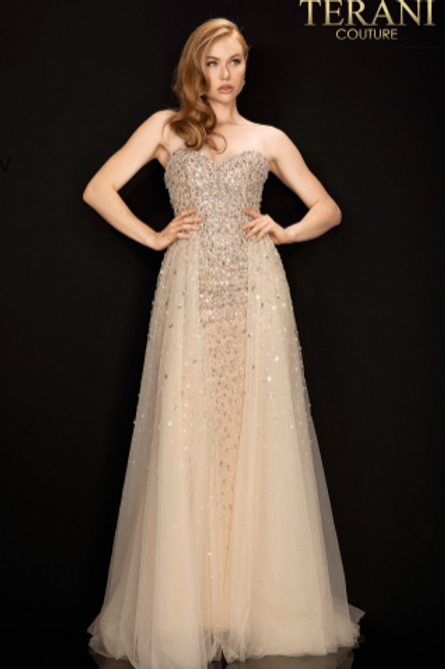 Terani Crystal beaded Gown