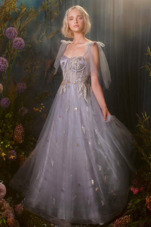 Genevive, Star of My Eye Corset Tulle A-Line Gown