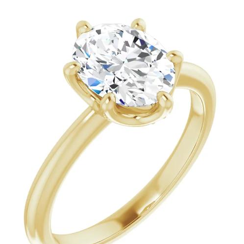 Mignon Manley 14K 1.5 GIA Diamond Oval Engagement Ring