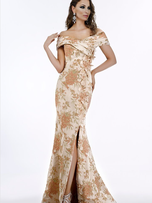 FERIANI COLLECTION Stunning Blush Mother Of The Bride Dress