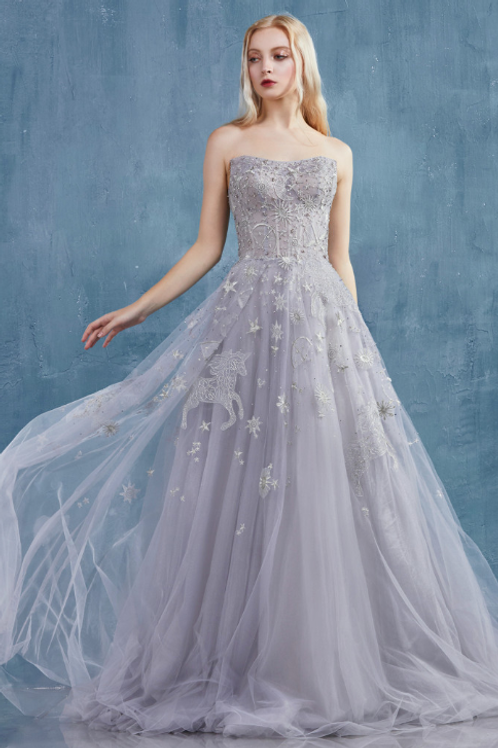 Selene Constellation Dream Embroidered & Tulle Ballgown