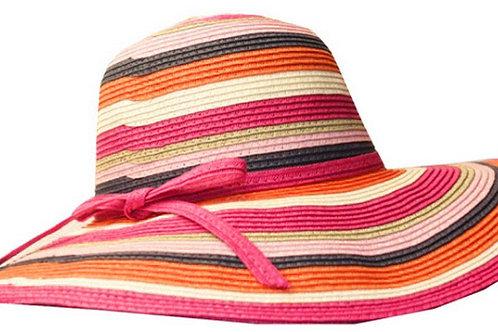 Tropical Multi Stripe Floppy Hat