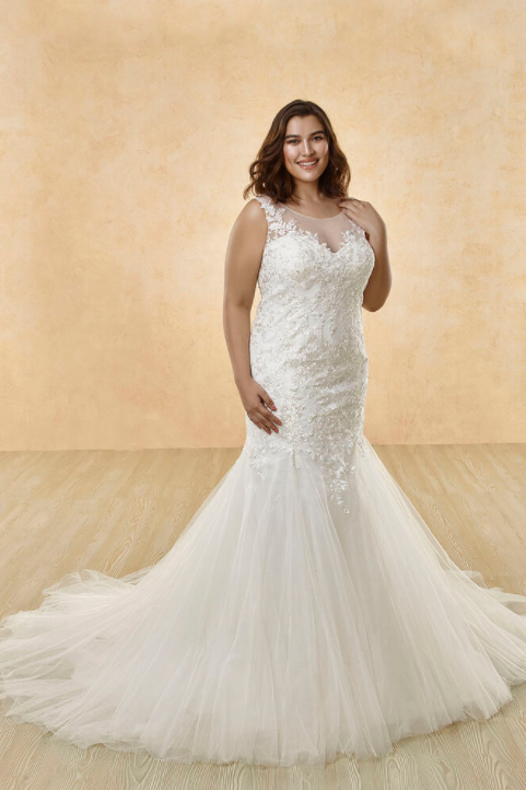 Mignon Manley Embellished Lace CURVY Bridal Gown