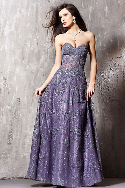 Floral Applique Women's Gown, Style 14913