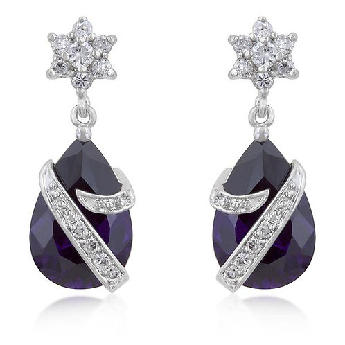 Royal Wrapped Amethyst Earrings