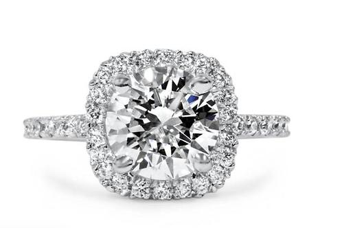 1 3/4 CT Halo Diamond Engagement Ring