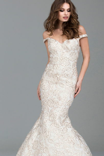 JOVANI Off The Shoulders Gown