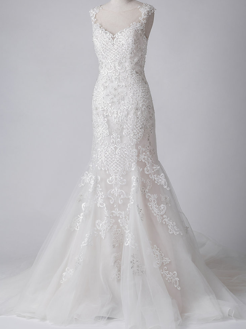 Mignon Manley Hand Embellished Lace Bridal Gown