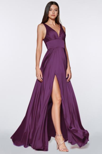 Cinderella Divine Satin Flowy A-line dress
