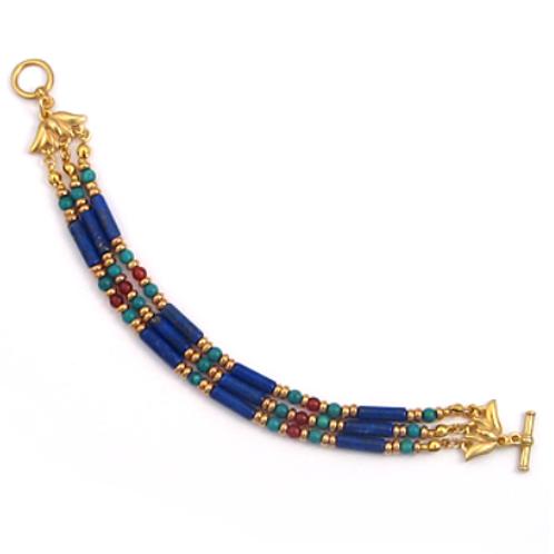 Egyptian Lapis & Turquoise Bracelet