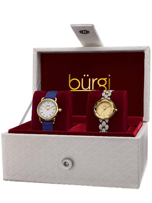 Burgi Women's Classsic 2 Watch Gift Set