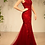 Thumbnail: Andrea & Leo Elegant Bateau Neckline Fit And Flare Gown