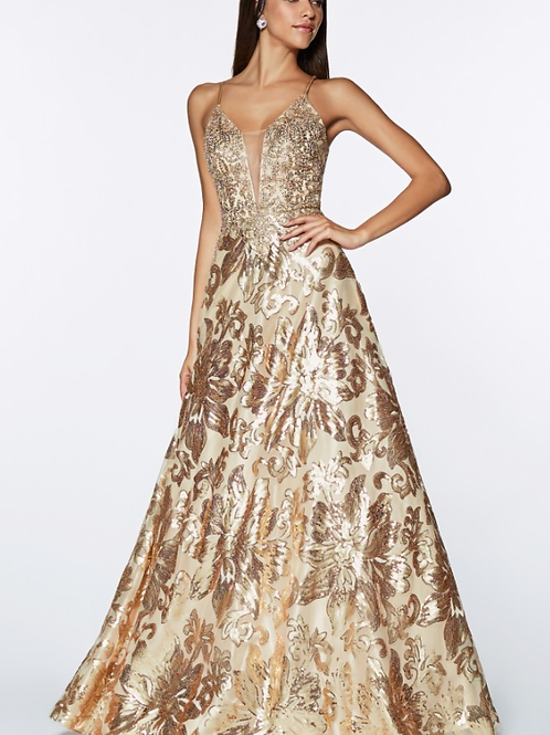 Focal Point A-line Sequin Gown