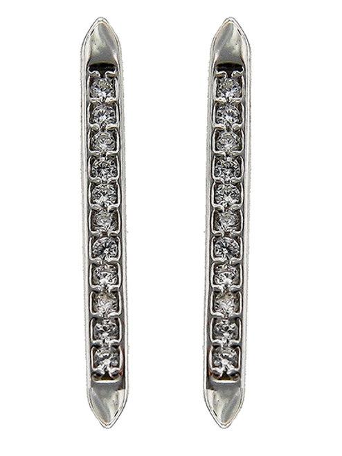 925 Sterling Silver Earrings / Clear Cubic Zirconia