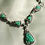 Thumbnail: Art Deco Vintage Green JadeTriangle Necklace