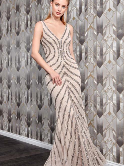 Danaya Hand Embellished Sleeveless Occasional Maxi Dress