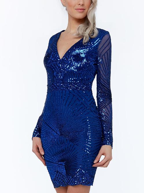 Starburst Sequin Mini Dress
