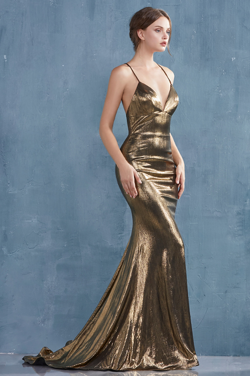 Metalica Stretch Strap Gown