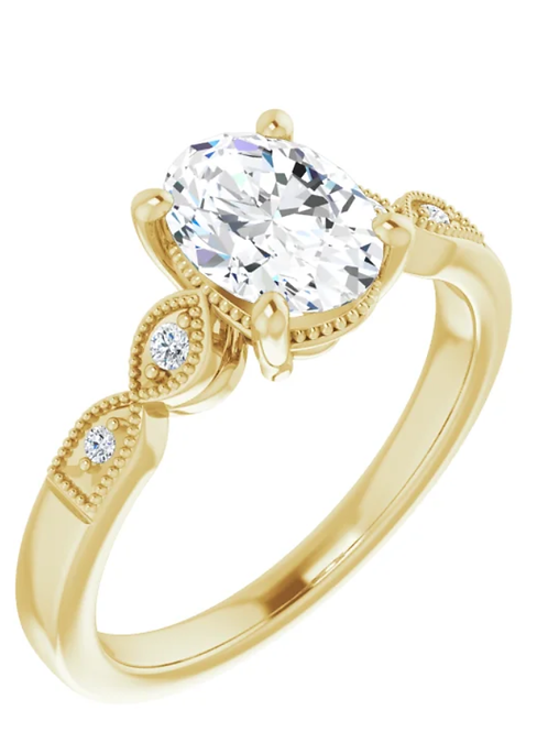 14K Yellow Gold 1CT Diamond Ring