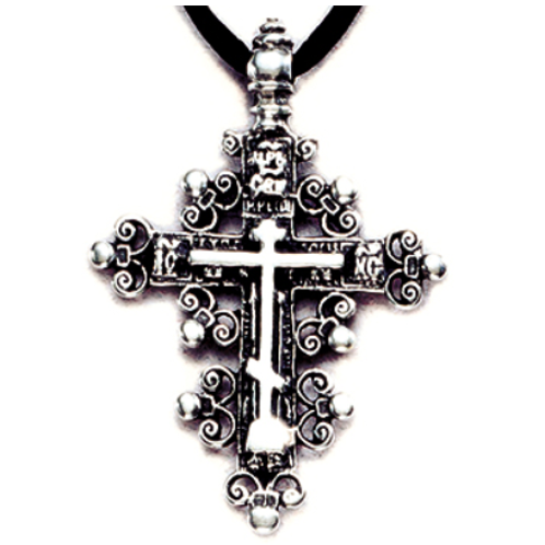 Anchors of Faith Cross - Sterling Silver Pendant Necklace