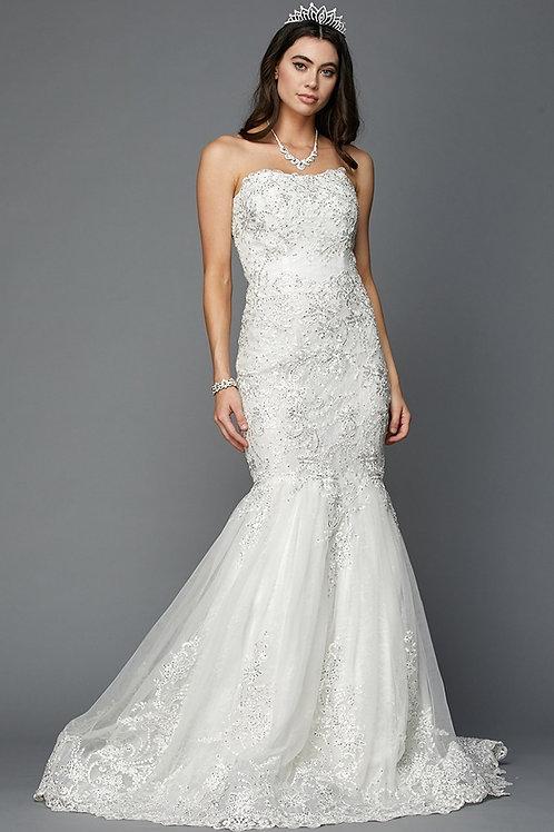 Stunning Long Wedding Gown