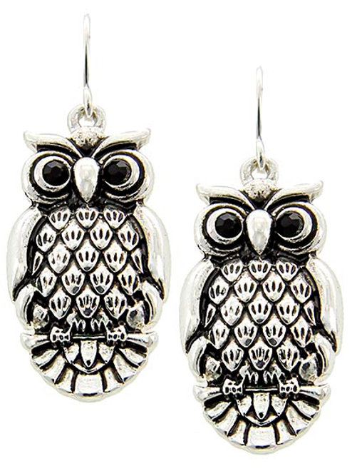 Antique Silver Tone & Silver Plated Earrings