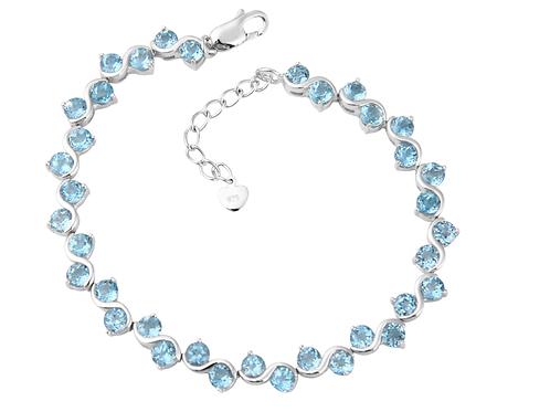 Natural Gemstone Topaz Bracelet Sterling Silver