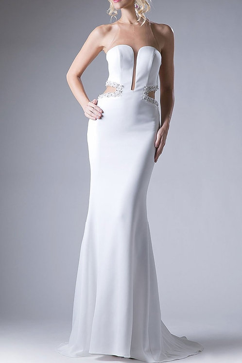 EVENING GOWN - OFF WHITE ANDREA LEO GOWN