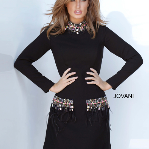 Jovani 1884 Long Sleeve High Neck Dress