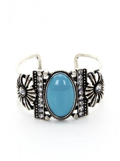 Large stone Cuff Bracelet